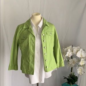 Lime green denim jacket